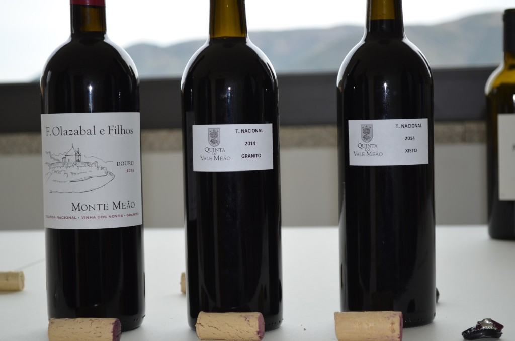 Monte Meao 2012 Touriga Nacional, 2014 barrel samples of granit, and then schist plots